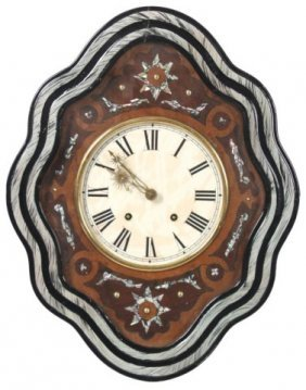 French Baker�s Inlaid Wall Clock