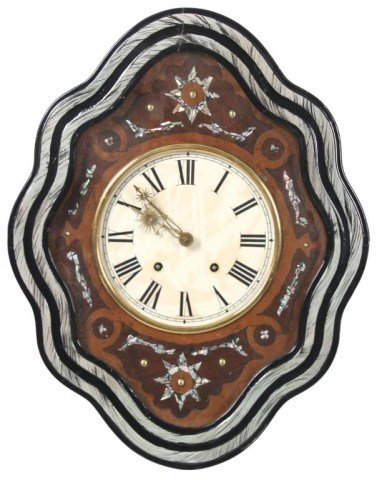 16: French Baker's Inlaid Wall Clock