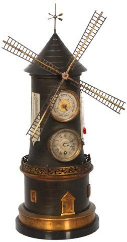 39: French Industrial Animated Windmill Clock