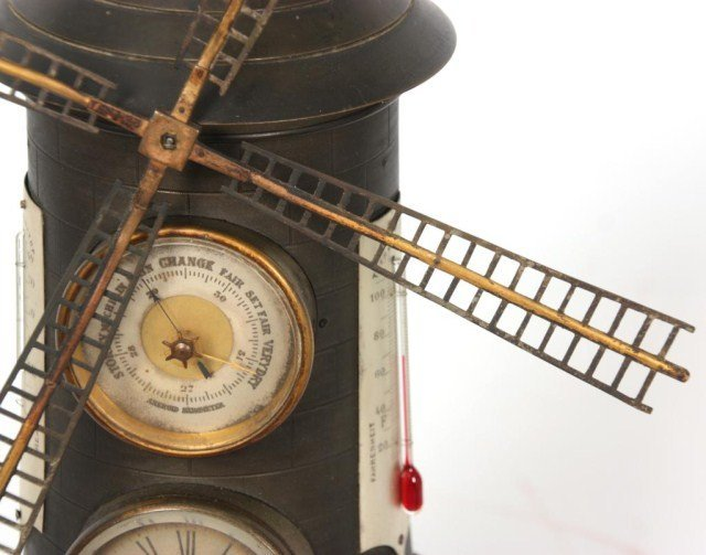 39: French Industrial Animated Windmill Clock - 7