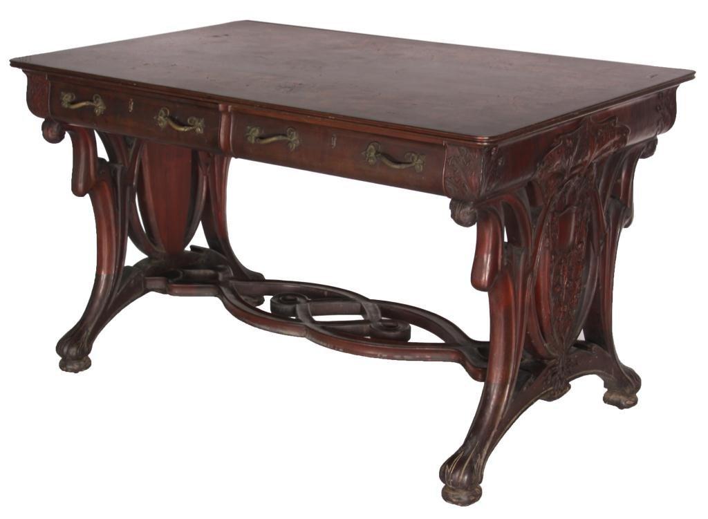 Karpen Inlaid Mahogany Partners Desk