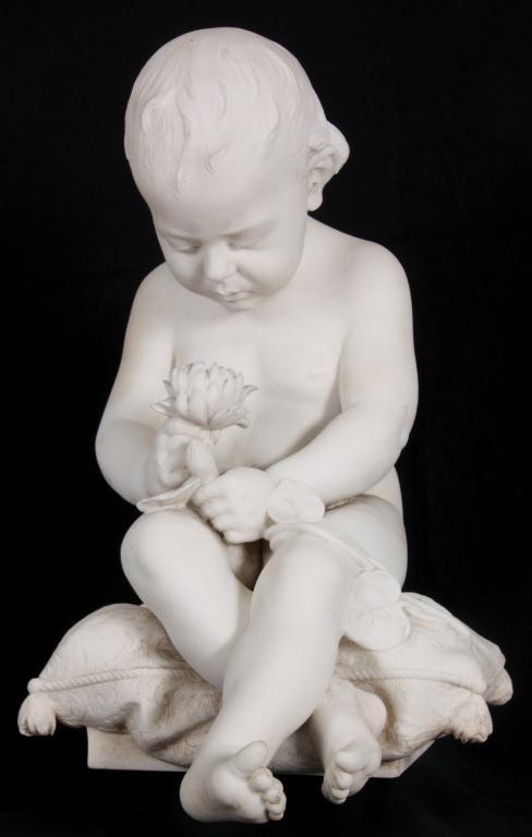 G. Trentanove Carrara Marble Sculpture