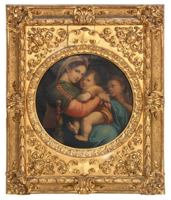 Lg. Raphael's O/C Madonna Della Sedia