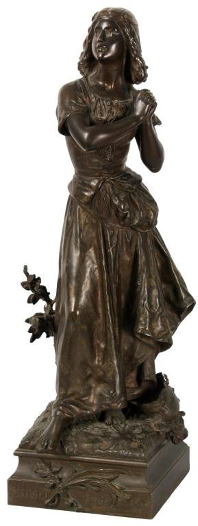 H. Moreau Bronze - Joan of Arc