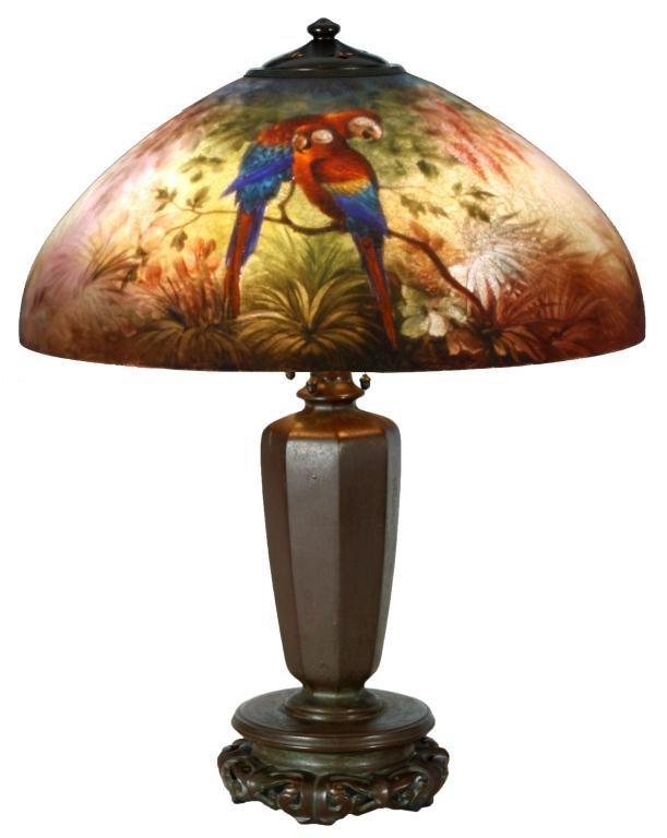 "Handel 18"" Jungle Bird Table Lamp"