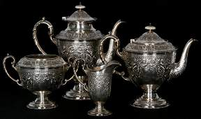 4 Pc English Sterling Silver Tea Set