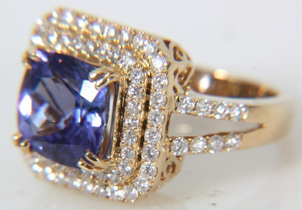 Orianne 14K Diamond & Tanzanite Ring - 10