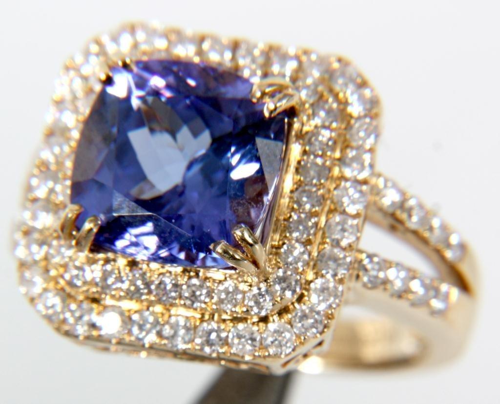 Orianne 14K Diamond & Tanzanite Ring