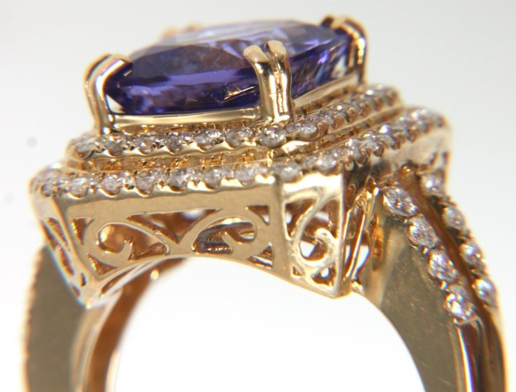 Orianne 14K Diamond & Tanzanite Ring - 2