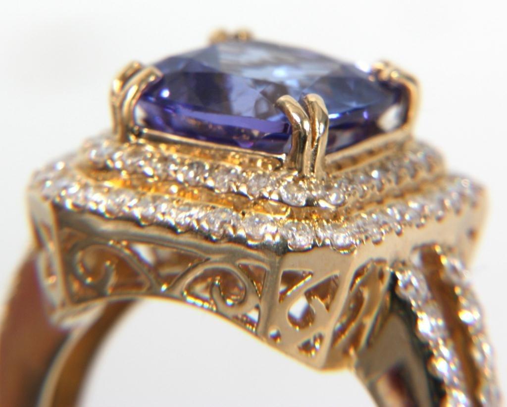 Orianne 14K Diamond & Tanzanite Ring - 4