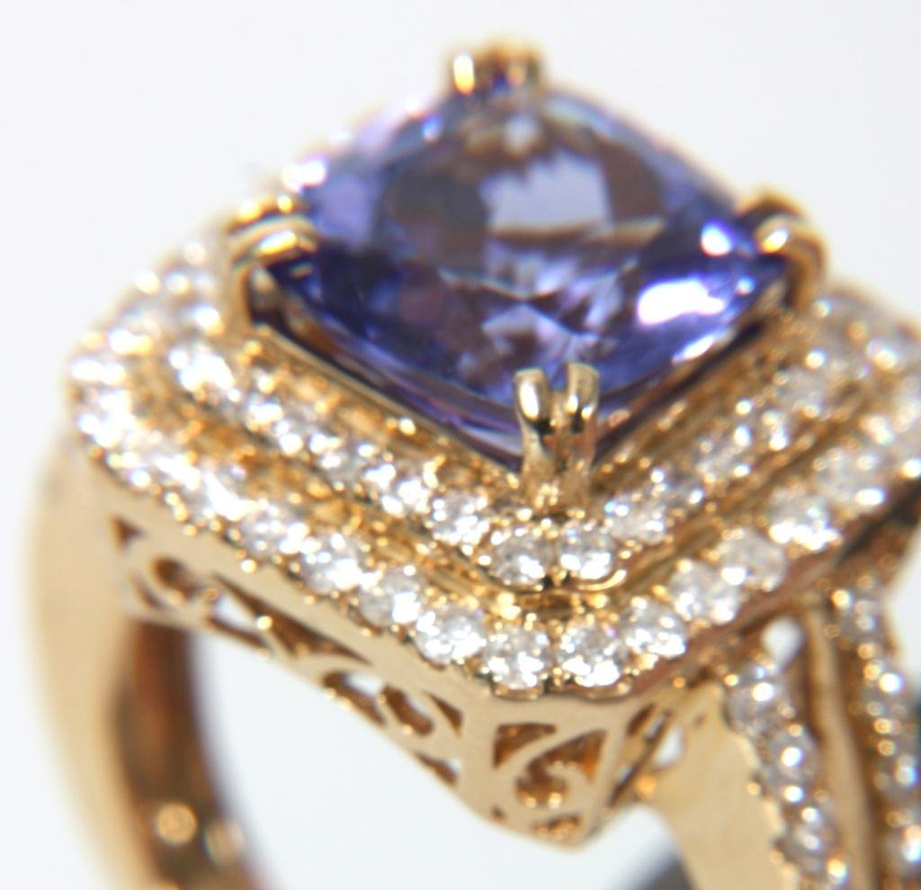 Orianne 14K Diamond & Tanzanite Ring - 6