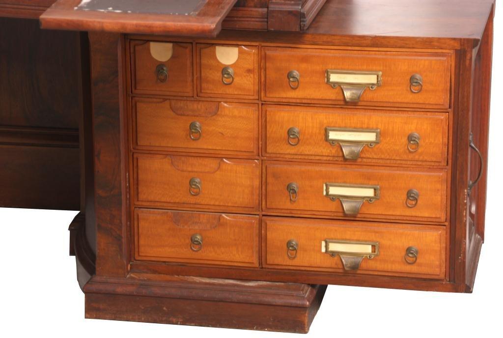 Shannon Walnut Roll Top Desk - 2