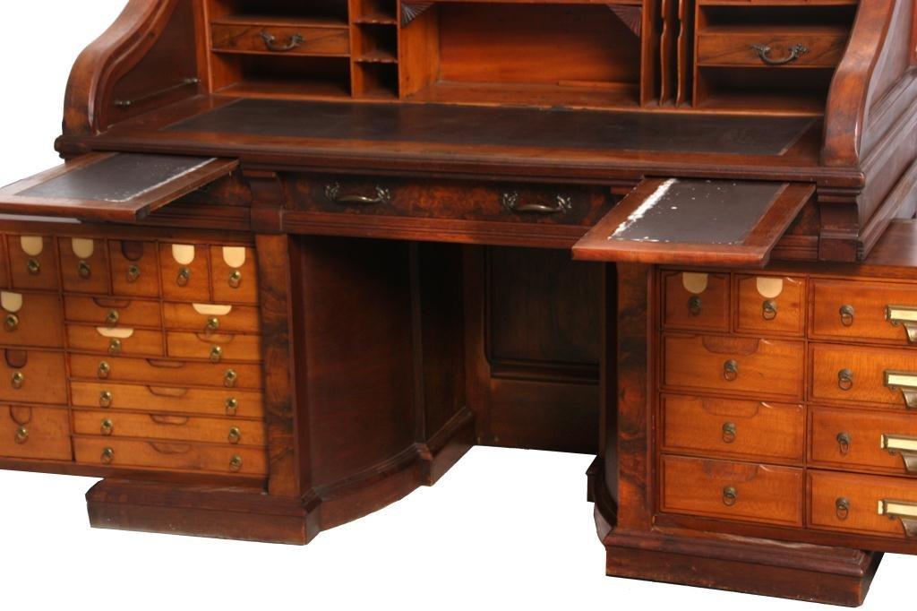 Shannon Walnut Roll Top Desk - 4