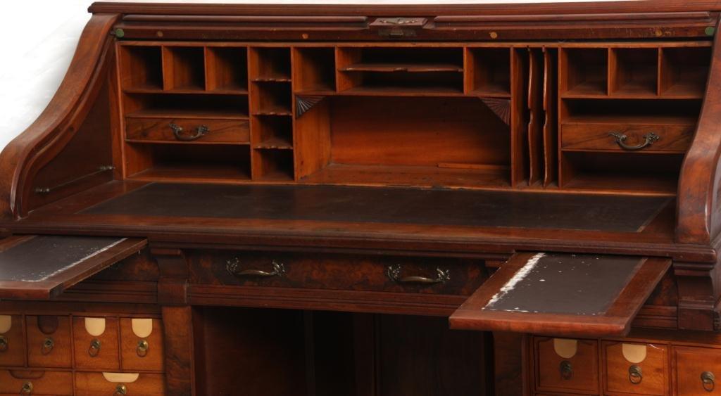 Shannon Walnut Roll Top Desk - 5