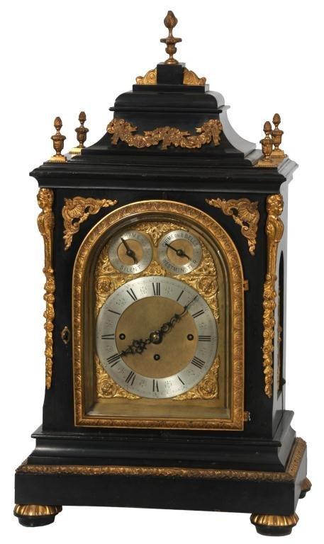 English Triple Fusee 8 Bell Bracket Clock