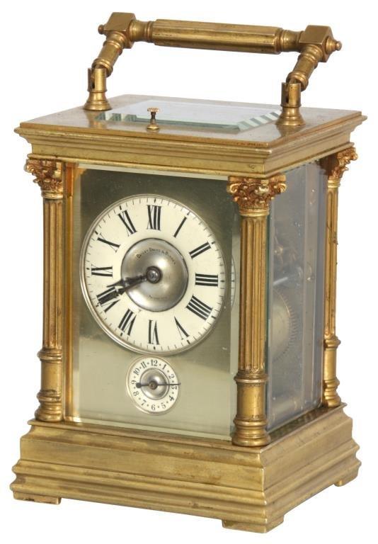Quarter Hour Repeater Brass Carriage Clock