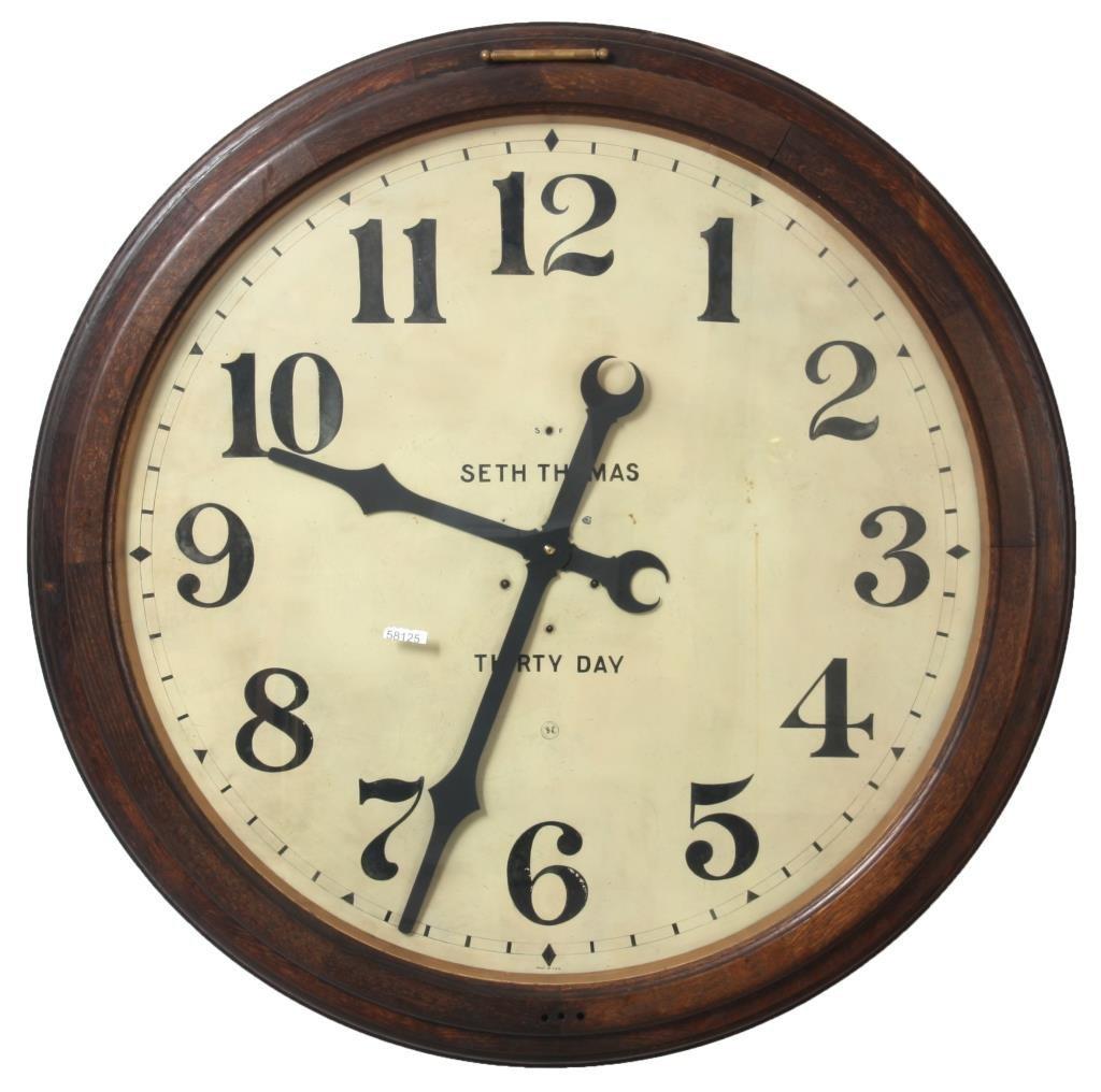36 in. Seth Thomas 30 Day Gallery Clock