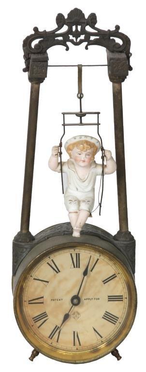 Ansonia Swing No.1 Bobbing Doll Clock