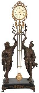 Ansonia Fisher & Falconer Double Swinger Clock