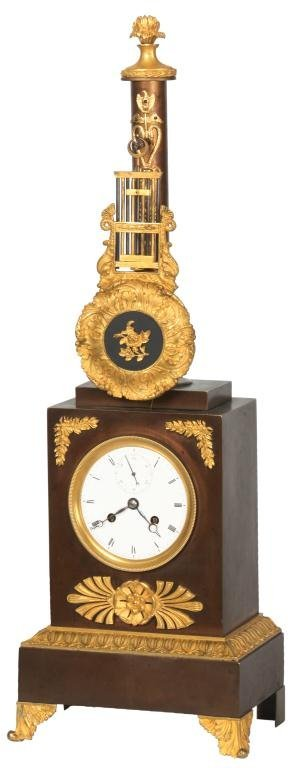 French Clock with Top Mounted Pendulum