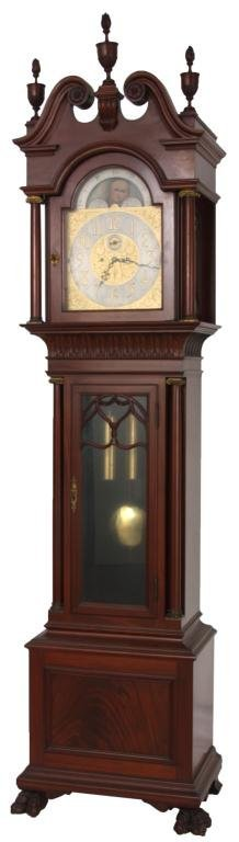 Walter Durfee 2 Weight Mahogany Grandfather Clock
