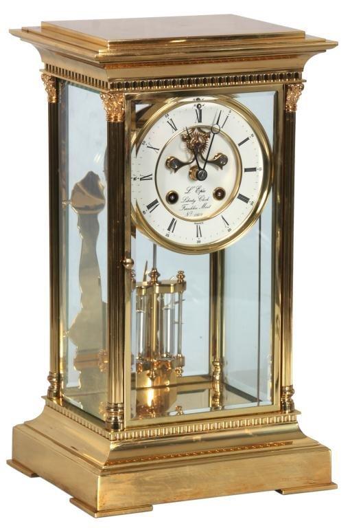 L'Epie Crystal Regulator Liberty Clock