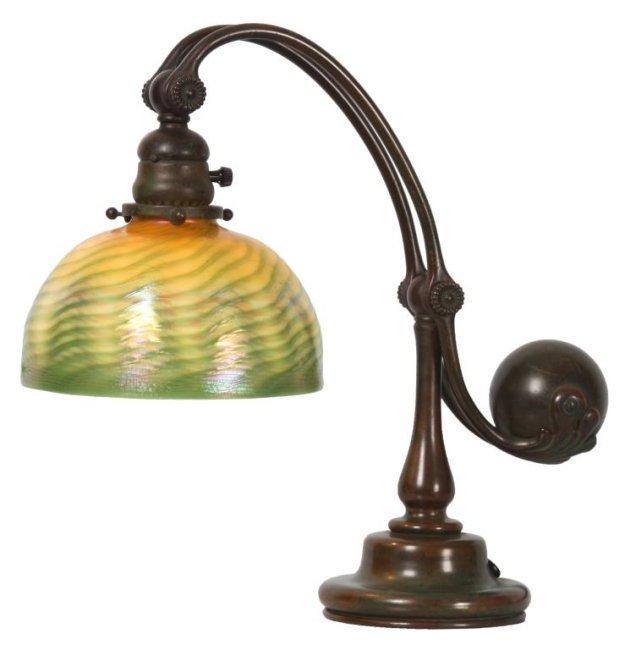 Tiffany Counterbalance Damascene Lamp