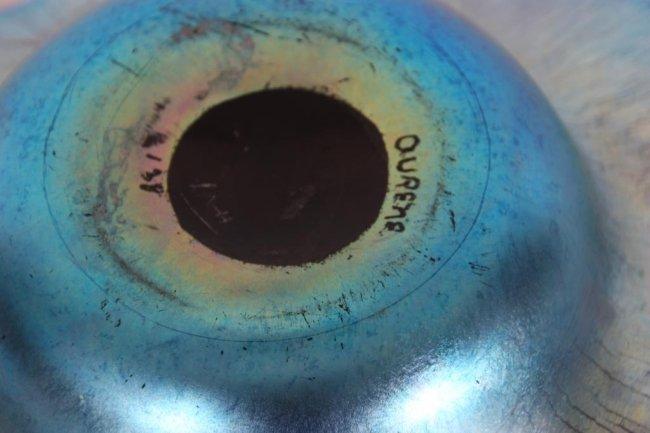 2 Steuben Aurene Blue Bowls - 10