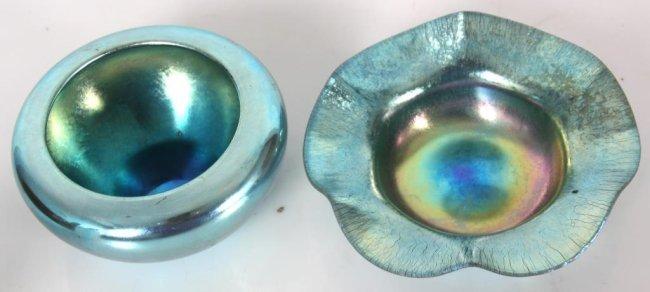 2 Steuben Aurene Blue Bowls - 2
