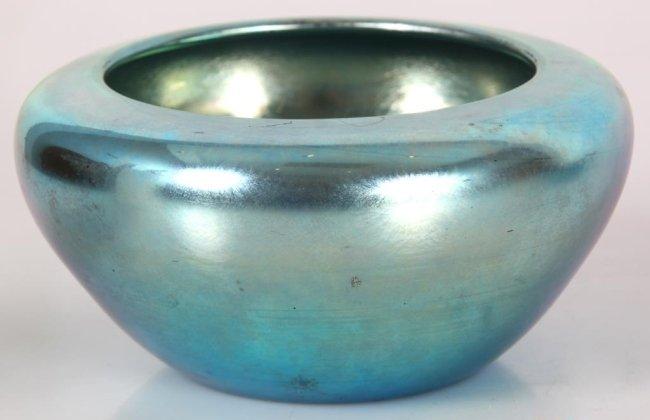2 Steuben Aurene Blue Bowls - 3