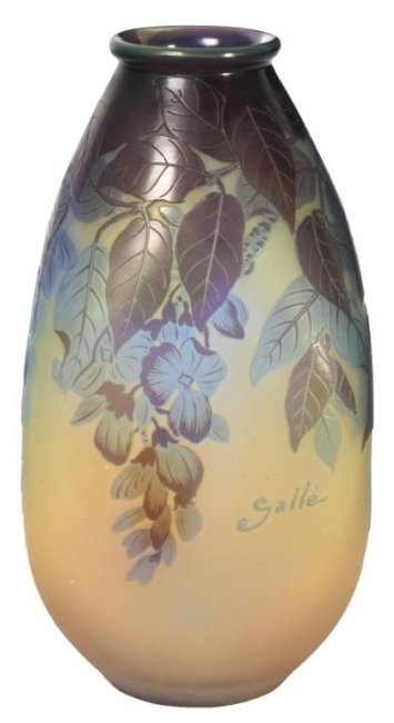 Galle Cameo Floral Vase