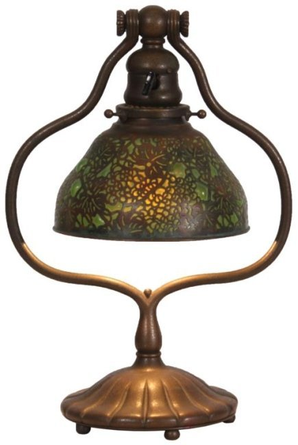 Tiffany Studios Blown Out Desk Lamp