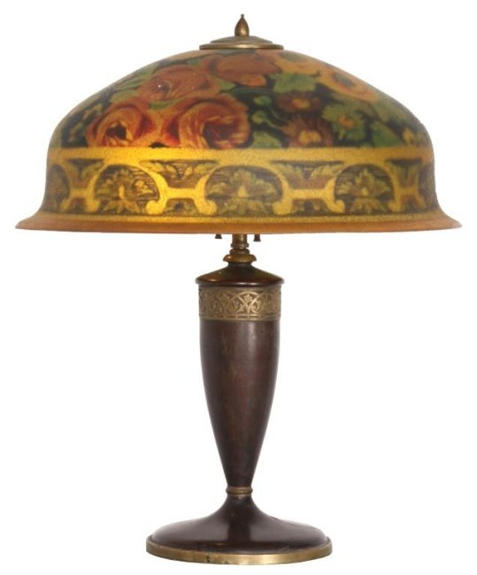 18 in. Pairpoint Reverse Painted Table Lamp