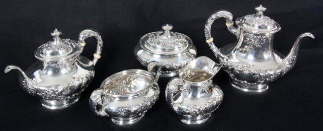 5 Pc. Gorham Buttercup Tea Set
