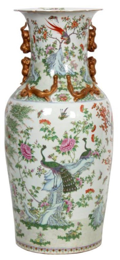 Monumental Chinese Floor Vase