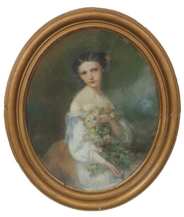 Galbrund Pastel on Canvas Portrait