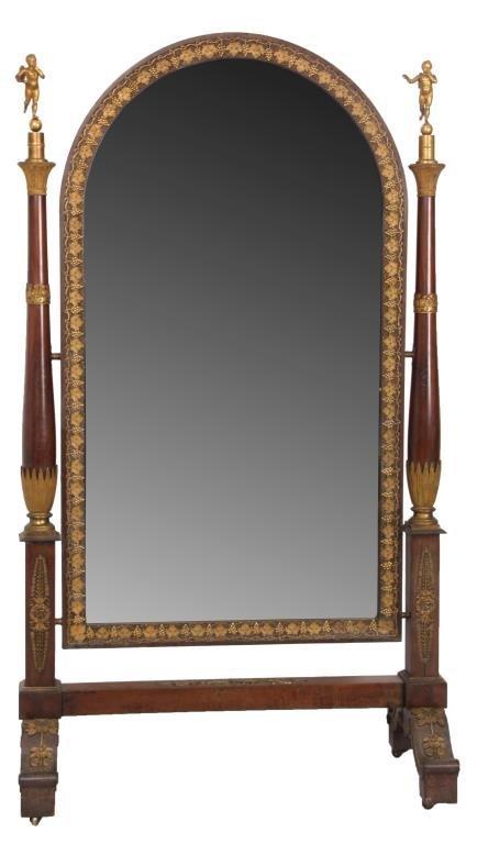 Mahogany & Bronze Empire Dressing Mirror