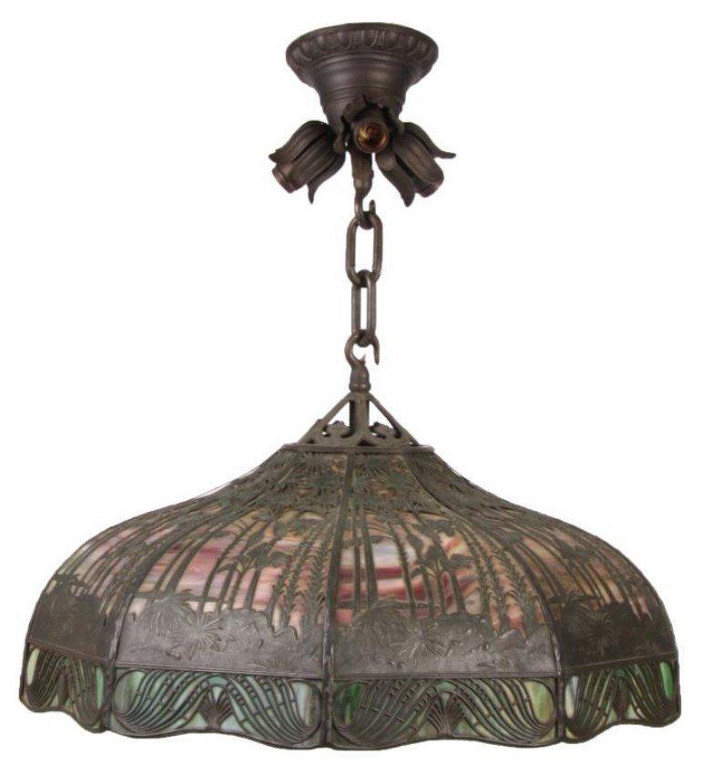 23 in. Handel Tropical Sunset Overlay Lamp