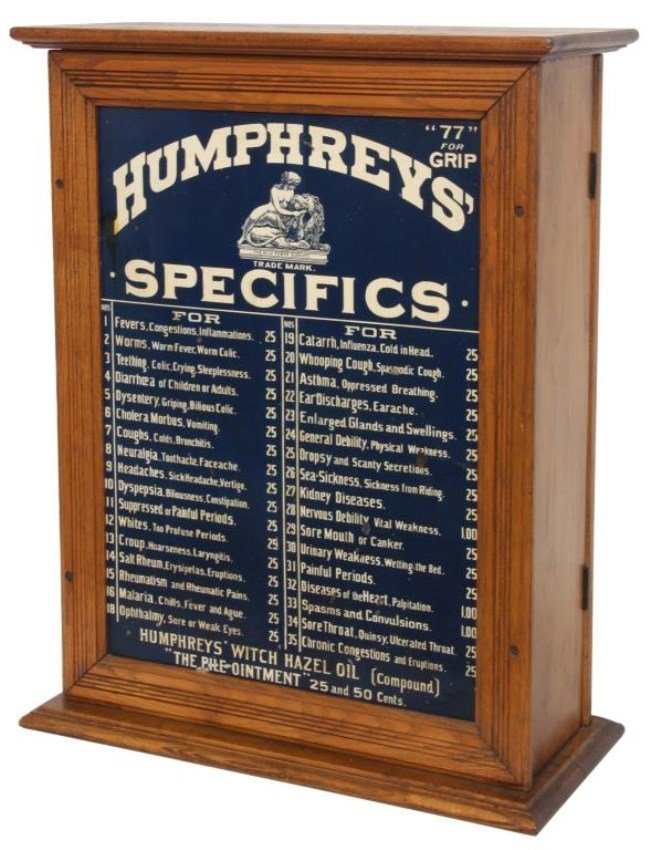 Humphrey S Specifics Apothecary Medicine Cabinet