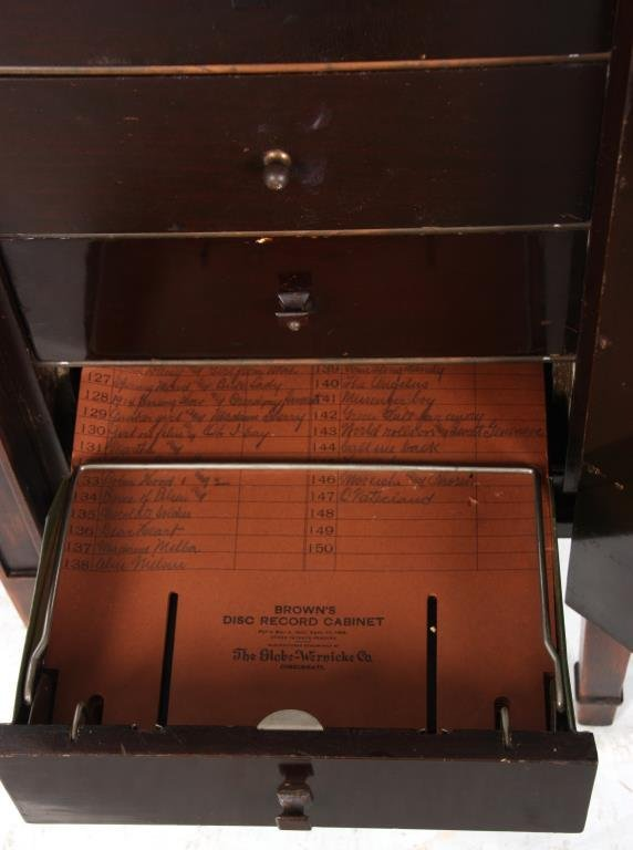 Brown's Disc Record Cabinet by Globe-Wernicke - 10