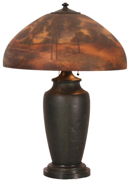 18 in. Jefferson Reverse Painted Table Lamp