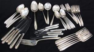 42 Pcs Towle Sterling Silver Muted Flatware