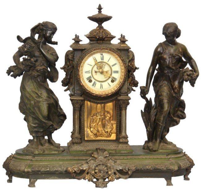 "Ansonia ""Summer & Winter"" Mantle Clock"