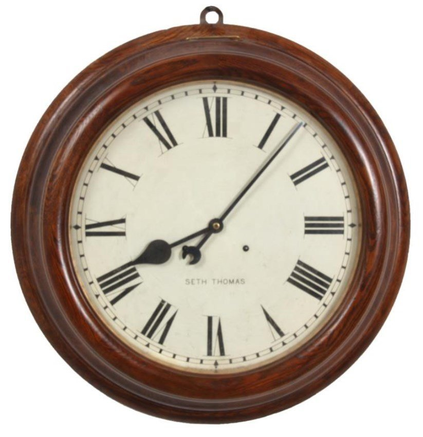 Seth Thomas Oak 18 in. Gallery Clock