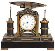 Guilmet Beam Engine French Industrial Clock