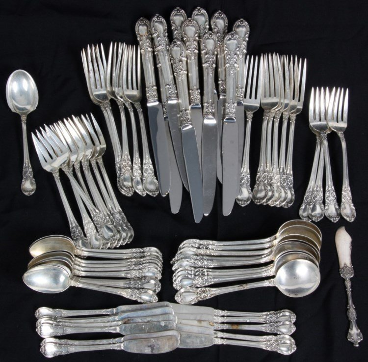 73 Pc. Lunt Sterling Silver Flatware Set