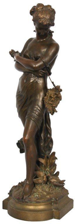 Moreau Figural Bronze Of A Woman