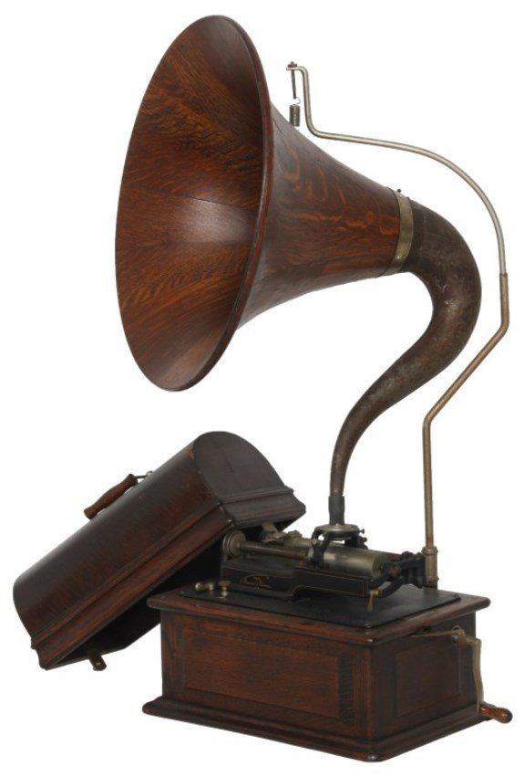 Edison Triumph Phonograph w/ Cygnet Horn