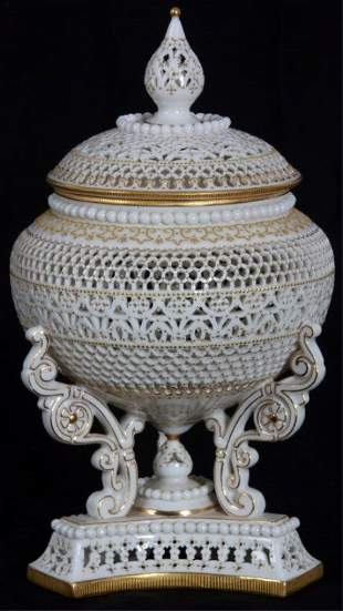 Royal Worcester Urn By George Owen