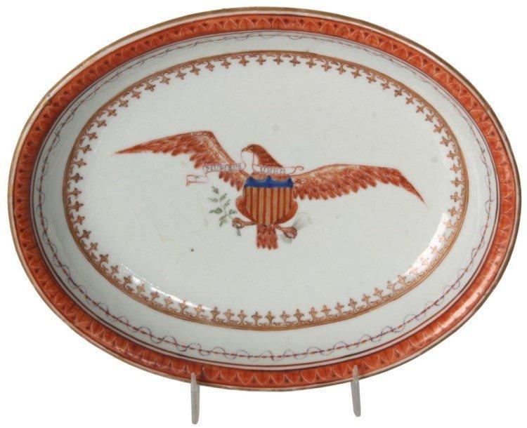 Chinese Export Porcelain Oval Platter